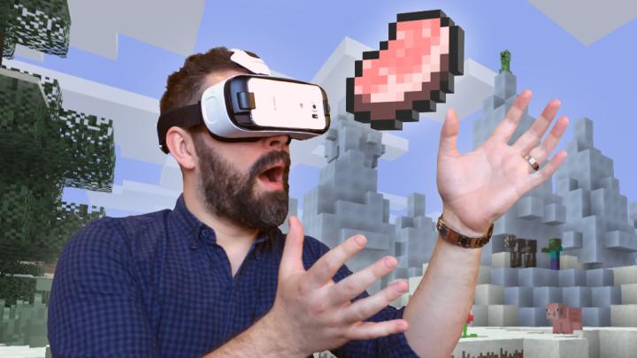 Acum poți juca Minecraft pe Gear VR
