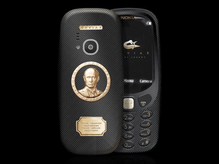 Nokia 3310 Supremo Putin – chipul lui Putin, din aur