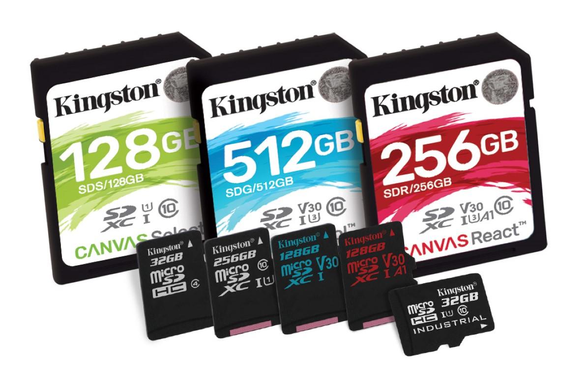 Canvas, noi carduri de memorie de la Kingston Digital