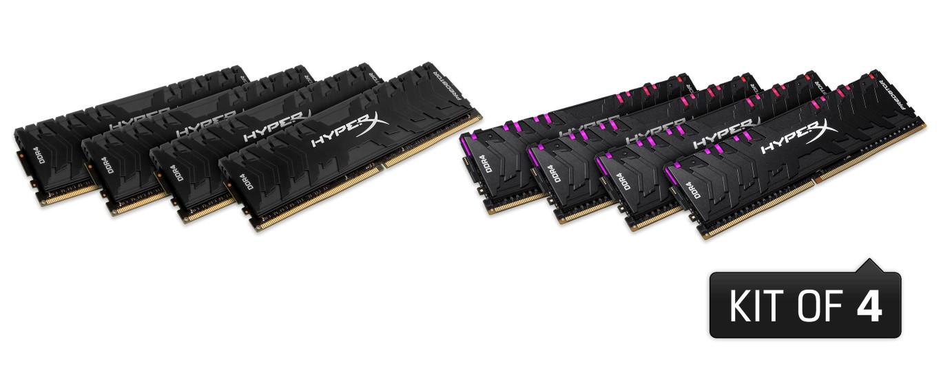 DDR4 Predator RGB și DDR4 Predator – noi memorii HyperX