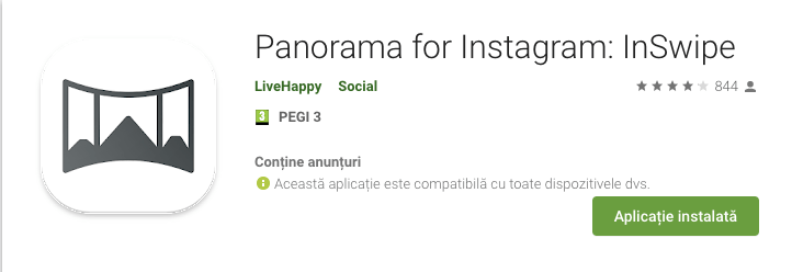 InSwipe e o unealtă simplă de făcut panorame pe Instagram