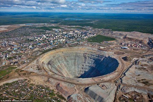 mină de diamante